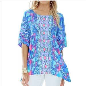 Lilly Pulitzer Sea Jewels Caftan Top Size S/M